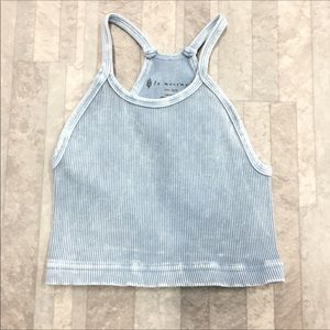New Free People Seamless cropped tank blue xs/s